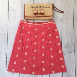 Beth Bowley embroidered cotton a-line skirt